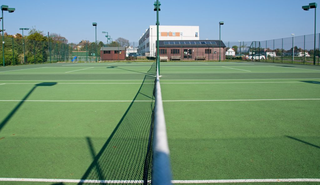 Photograph of the the tennis courts