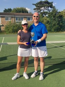 Mixed Doubles Champions: Glynne & Warren